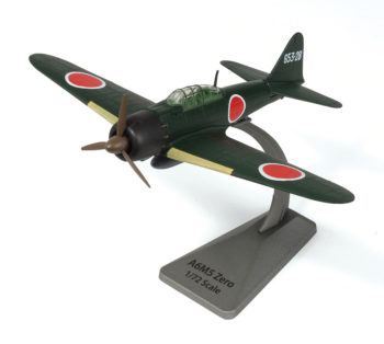 Green Mitsubishi A6M2 Zero Japanese Fighter Plane Model