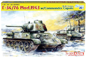 Soviet T-34-76 Medium Scale Model Tank