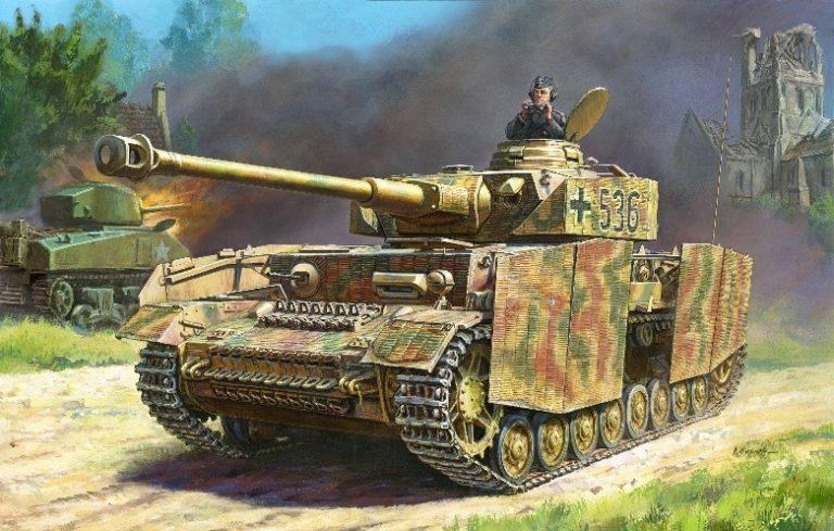 German Panzer IV Ausf H Medium Tank Model Kit