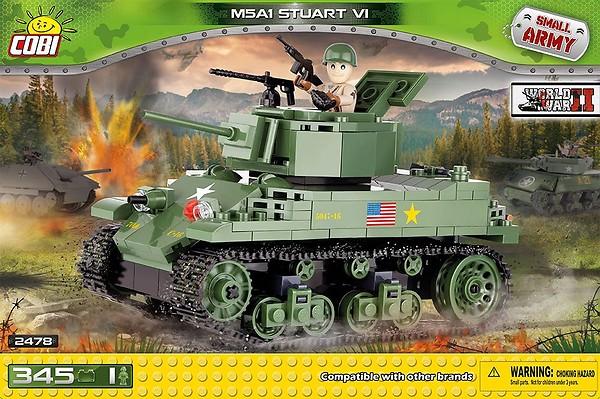 M5A1 Stuart VI 345 Pcs Small Tank Model Kit