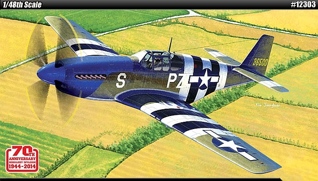 P-51B Mustang Blue Nose USAAF Fighter Plane Model Kit