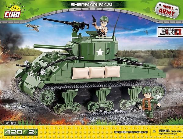 Sherman M4A1 WWII 420 Pcs Small Tank